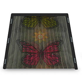 Москитная сетка на магнитах, антимоскитная шторка распашная, Черный с бабочками
