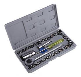Набір універсальних інструментів для автомобіля 40 шт в кейсі   Набір автоінструментів в футлярі