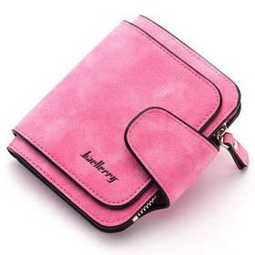 Кошелек женский Baellerry Forever Mini, компактный портмоне из замши, Розовый