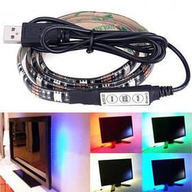 Світлодіодна стрічка з пультом для підсвічування телевізора або монітора, світлова LED стрічка