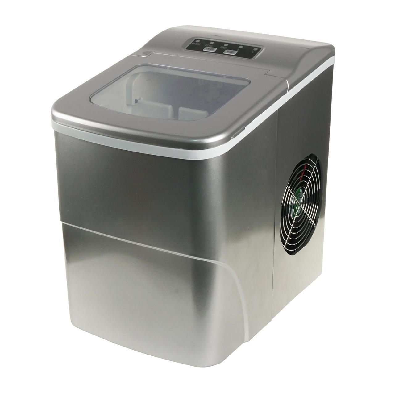 Портативный генератор льда, бытовой компактный ледогенератор, Серый