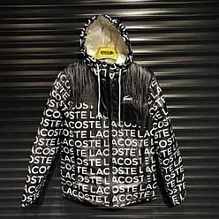 Мужская куртка ветровка  Lacoste Black (Утеплённая)