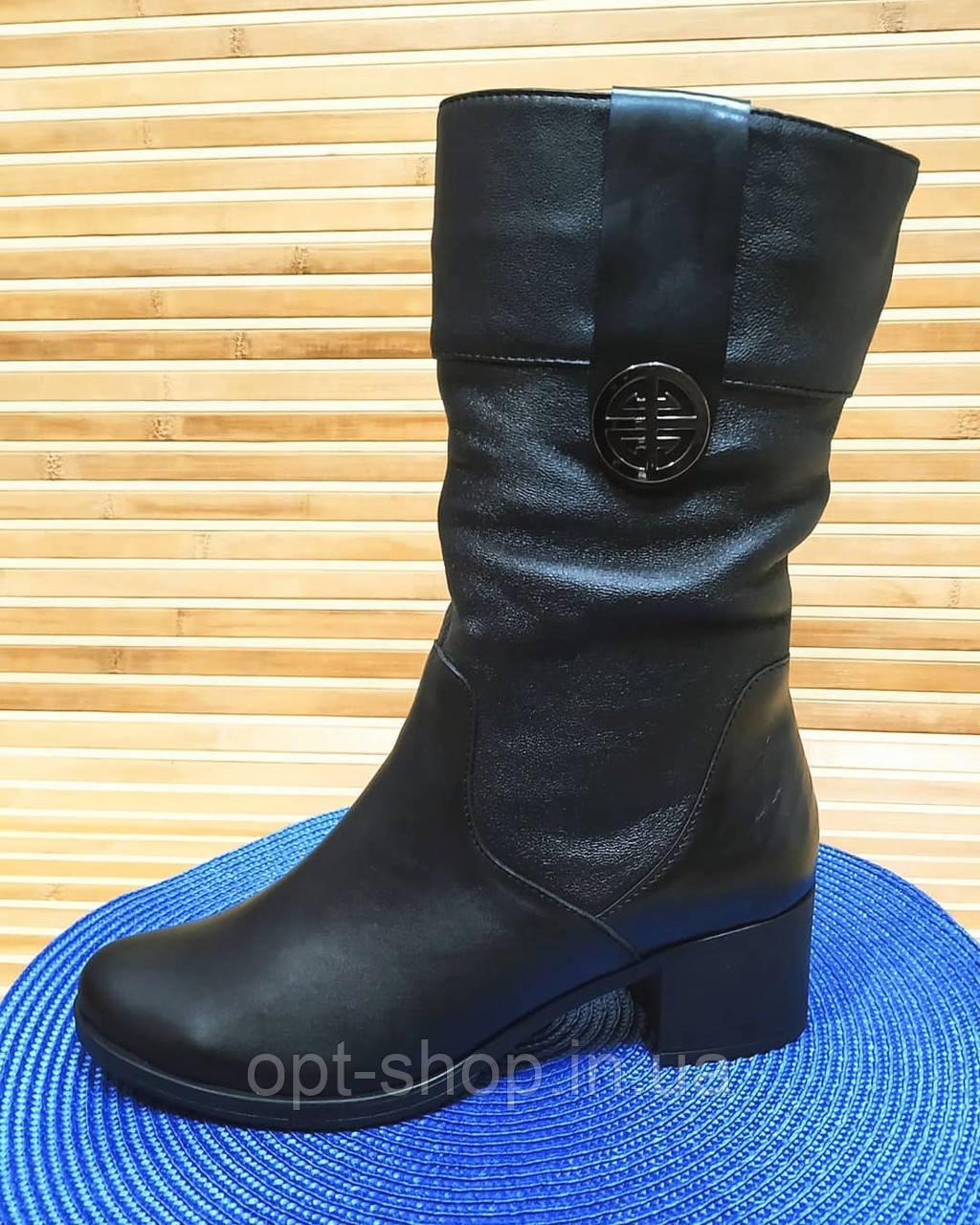 Женские демисезонные сапоги полусапожки на полную ногу, женская весенняя обувь от производителя