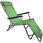 Садовое кресло шезлонг с подголовником Bonro 153 см лежак раскладной, фото 8