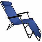 Садовое кресло шезлонг с подголовником Bonro 153 см лежак раскладной, фото 7