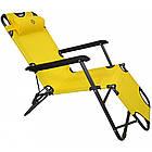 Садовое кресло шезлонг с подголовником Bonro 153 см лежак раскладной, фото 5