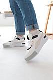Женские кроссовки Puma Cali Mix Пума Кали Микс белые с черным, фото 4