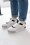 Женские кроссовки Puma Cali Mix Пума Кали Микс белые с черным, фото 6
