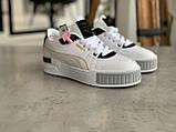 Женские кроссовки Puma Cali Mix Пума Кали Микс белые с черным, фото 8