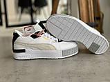 Женские кроссовки Puma Cali Mix Пума Кали Микс белые с черным, фото 10