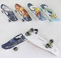 Скейт Пенні борд 40311 Best Board колеса PU світяться дошка=65см дека з ручкою