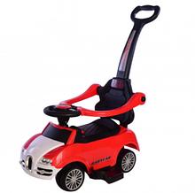 Толокар T-931 Red с муз. 794390 /1/ (красный) с родительской ручкой