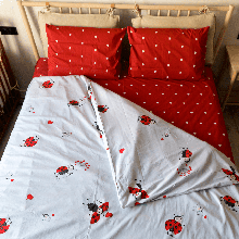 Комплект постельного белья Kris-Pol «Божьи коровки» 180x220 Сатин