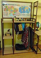 Вешалка стойка для одежды Лофт 1900х1150х400мм, ВШ11