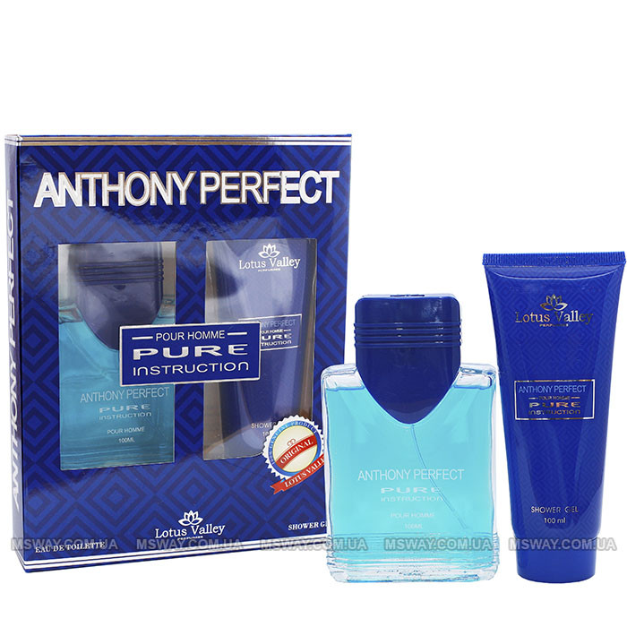 Anthony Perfect Pure Instructions Набор EDT 100ml + Гель/душ 100ml мужской