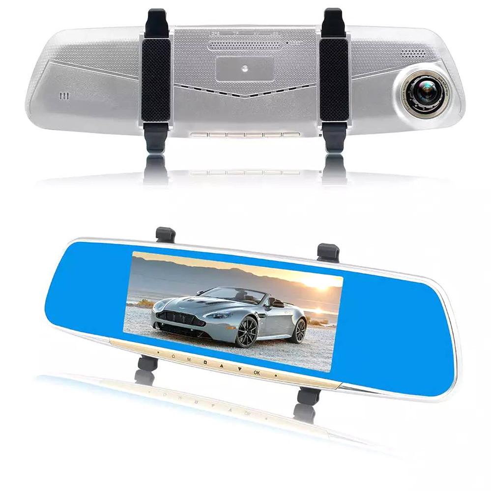 Видеорегистратор-зеркало с камерой заднего вида Видеорегистратор автомобильный DVR V10 HD 1080p 7 дюймов