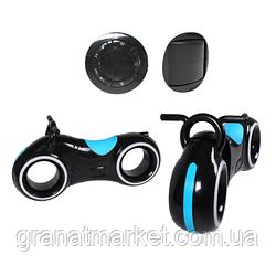 Беговел Tilly GS-0020 Black/Blue Bluetooth, LED-підсвічування
