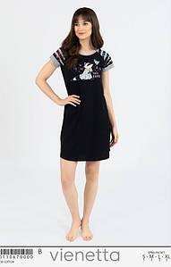 Домашнее платье туника с коротким рукавом Енот 42-48 р