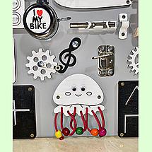 Розвиваюча дошка розмір 40*50 Бизиборд для дітей 29 елементів!, фото 3