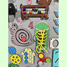 Развивающая доска размер 60*80 см. Бизиборд для детей 58 элементов!, фото 2