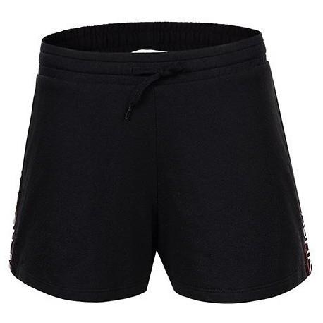 Женские черные трикотажные шорты