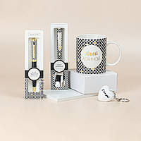 """Подарунковий набір з чашки, ложки, брелка і ручки B&G """"Моєї улюбленої"""", фото 1"""