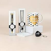 """Подарунковий набір з чашки, ложки, брелка і ручки B&G """"Я тебе люблю"""", фото 1"""