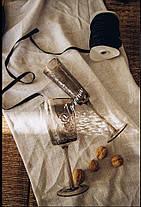 Набір 6 келихів для шампанського з кольорового чорного скла Чорний Ангел 150 мл, фото 2