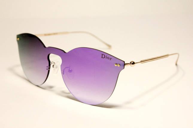 Женские солнцезащитные очки Диор 20032 C3 реплика Фиолетовые с градиентом, фото 2