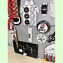"""Розвиваюча дошка розмір 40*50 Бизиборд для дітей """"Інь-янь"""" 29 елементів!, фото 3"""