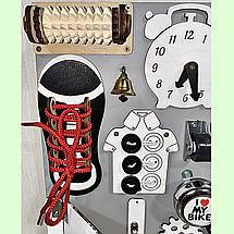"""Розвиваюча дошка розмір 40*50 Бизиборд для дітей """"Інь-янь"""" 29 елементів!, фото 2"""