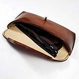 Кожаный  футляр чехол для очков Rayban Polaroid окуляри футляр для окулярів, фото 8