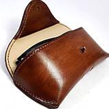 Кожаный  футляр чехол для очков Rayban Polaroid окуляри футляр для окулярів, фото 6