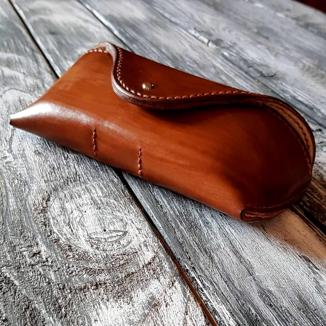 Кожаный  футляр чехол для очков Rayban Polaroid окуляри футляр для окулярів