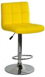 Барный стул со спинкой Bonro B-628 желтый (40080040)