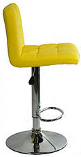Барный стул со спинкой Bonro B-628 желтый (40080040), фото 2