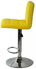 Барный стул со спинкой Bonro B-628 желтый (40080040), фото 3