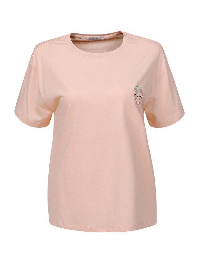 Женская футболка пастельных оттенков в трёх цветах Glo-story, Венгрия