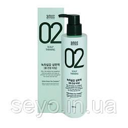Шампунь против выпадения волос AMOS Professional 02 Scalp Nourish The Green Tea Shampoo Moist, 500 г