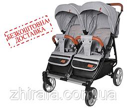 Прогулочная коляска для двойни CARRELLO Connect CRL-5502  Rock Gray
