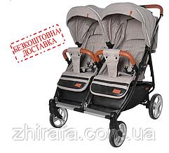 Прогулочная коляска для двойни CARRELLO Connect CRL-5502 Cotton Beige