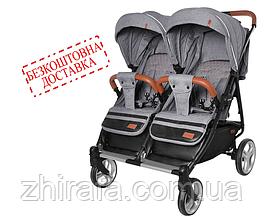 Прогулочная коляска для двойни CARRELLO Connect CRL-5502 Ink Gray