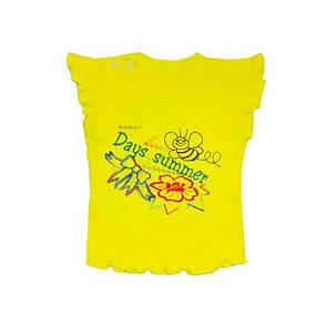 Дитяча футболка для дівчинки з вишивкою інтерлок