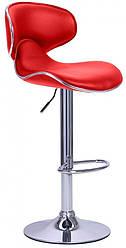 Барный стул со спинкой Bonro B-678 красный (40080033)