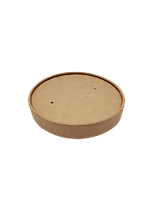 Кришка крафтовая 96мм для супников 250мл, 350мл, 470мл, упаковка 50шт, (5,20 грн/шт)., фото 1