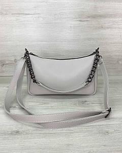 Женская сумка «Луна» серая