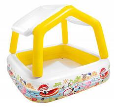 Детский надувной бассейн Intex 57470, «Аквариум» со съемным навесом