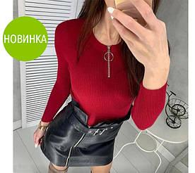 """Женская кофточка с декольте на молнии """"Alisha"""" #A/S"""