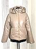 Демисезонная женская куртка модная из экокожи, фото 9