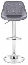 Барный стул со спинкой Bonro B-801C велюр серый (40080030)